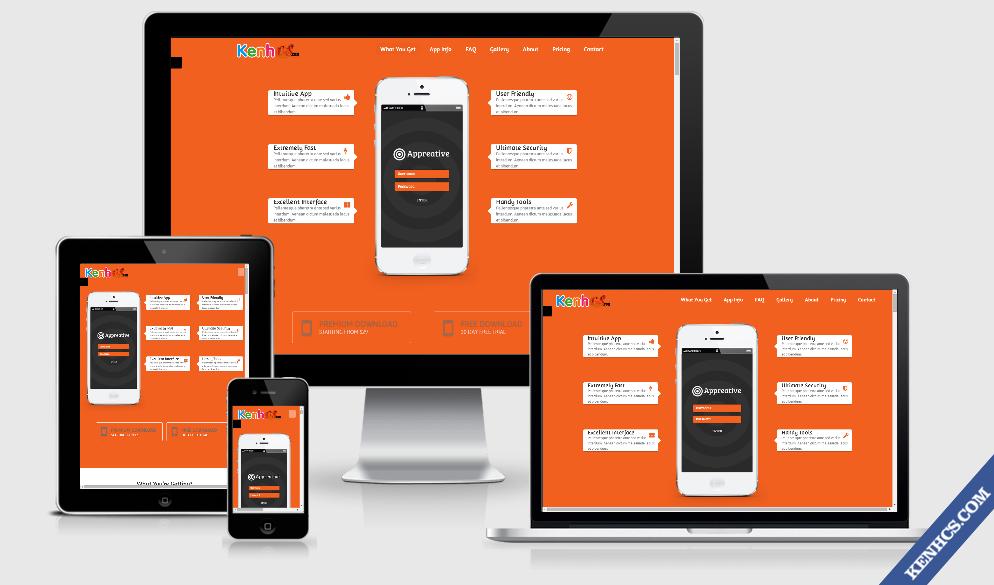 Flat Landing Page Theme cho Blogspot   Thiết kế nội thất shop đẹp